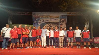 Dirigenti e Amministrazione in posa per la foto finale Gabicce Sport Parade